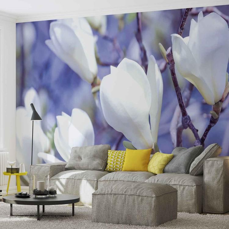 Flowers Magnolia Nature Wallpaper Mural