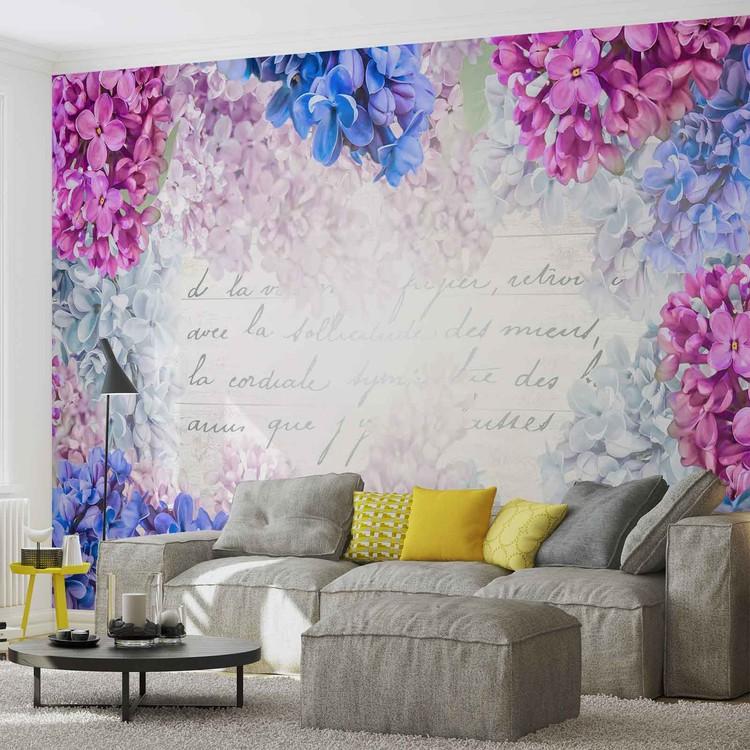 Flowers Vintage Wallpaper Mural