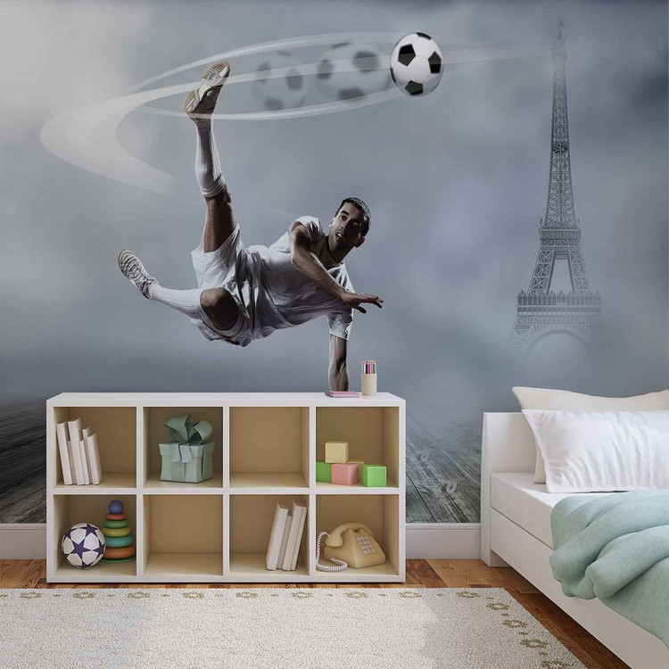 Football Player Paris Wallpaper Mural