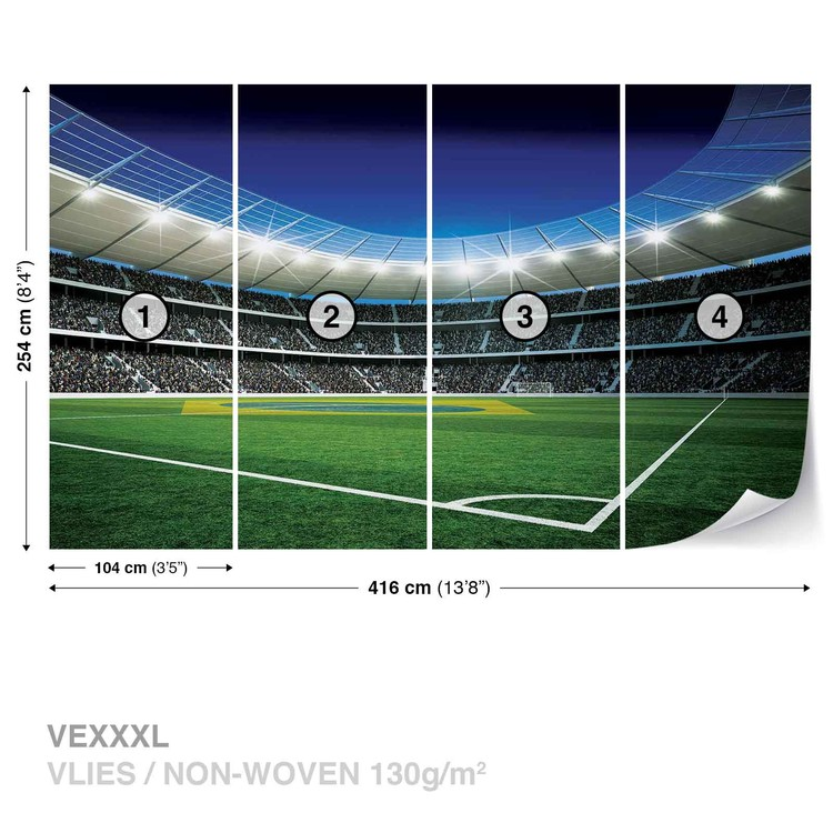 Football Stadium Wall Paper Mural Buy at EuroPosters