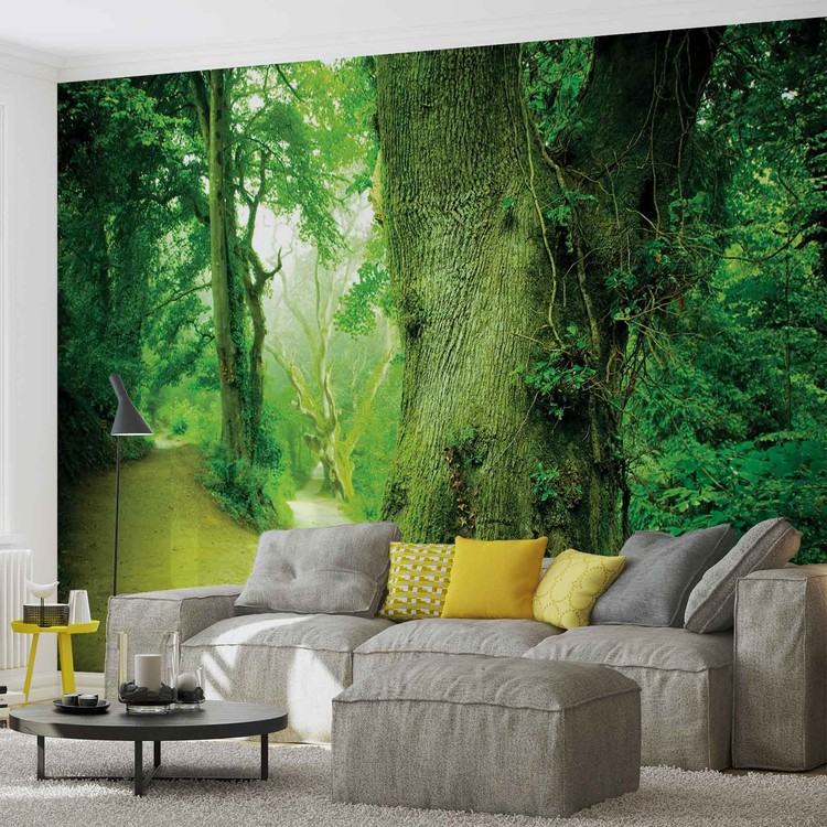 forest nature trees wall mural for your home buy at