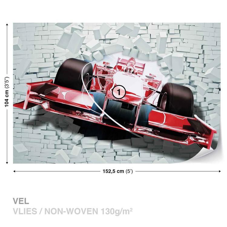 Formula 1 Racing Car Bricks Wallpaper Mural