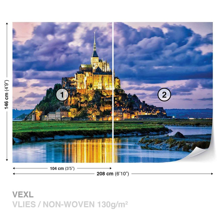 France Mont Saint Michel Wallpaper Mural
