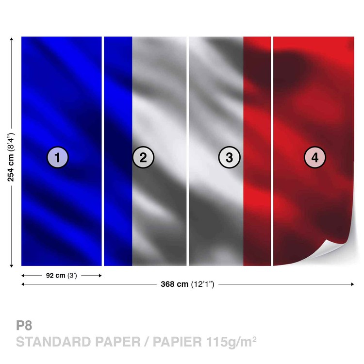 French Flag France Wallpaper Mural