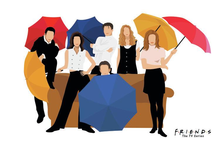 Wallpaper Mural Friends - 1994