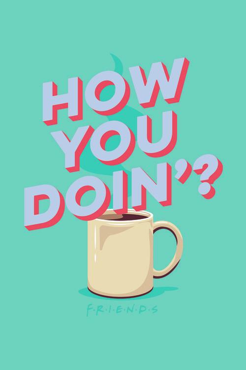Wallpaper Mural Friends - How you doin'?