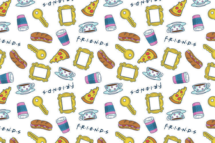 Wallpaper Mural Friends - Icons
