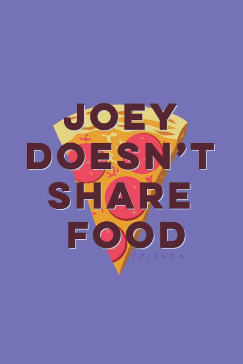 Wallpaper Mural Friends - Joey doesn't share food