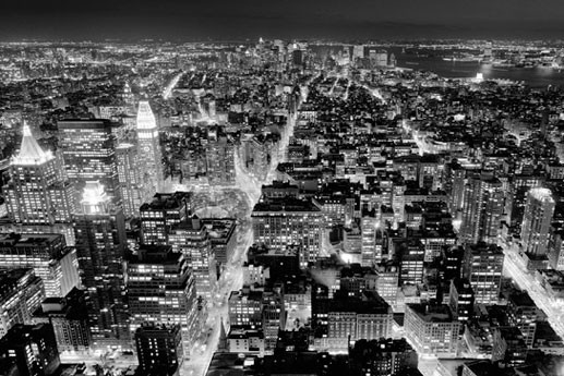 FROM THE EMPIRE STATE BUILDING - south view Wallpaper Mural