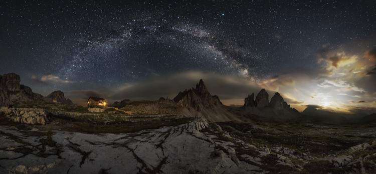Galaxy Dolomites Wallpaper Mural