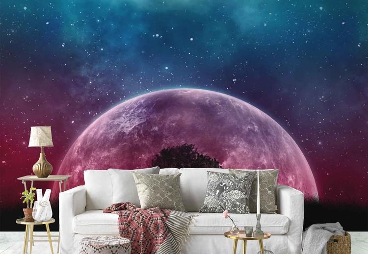 galaxy tree 416x290 cm premium non woven wallpaper 130gsm i55870