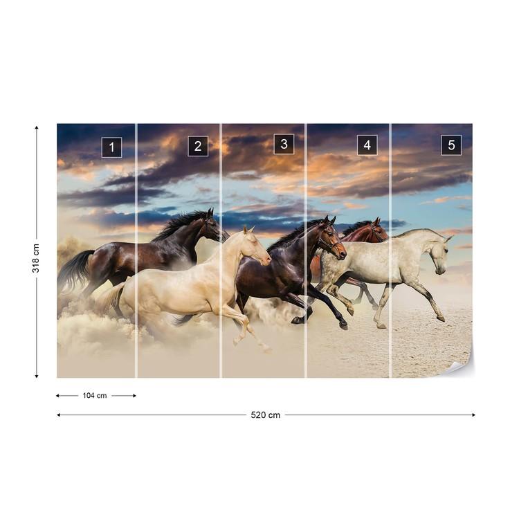 Galloping Horses Wallpaper Mural