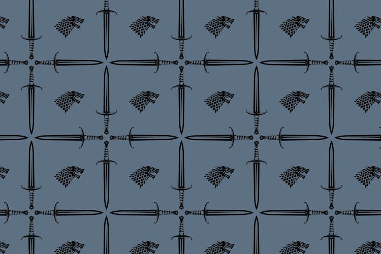 Wallpaper Mural Game of Thrones - House Stark Symbol