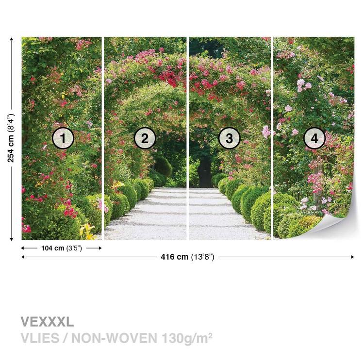 Garden Path Nature Wallpaper Mural