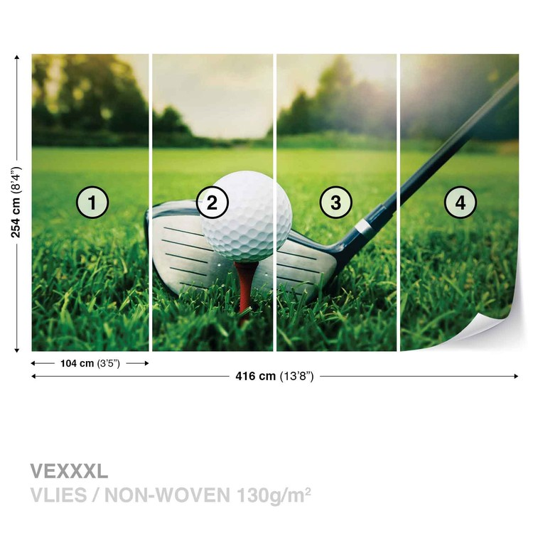 Golf Ball Club Wall Paper Mural Buy at EuroPosters