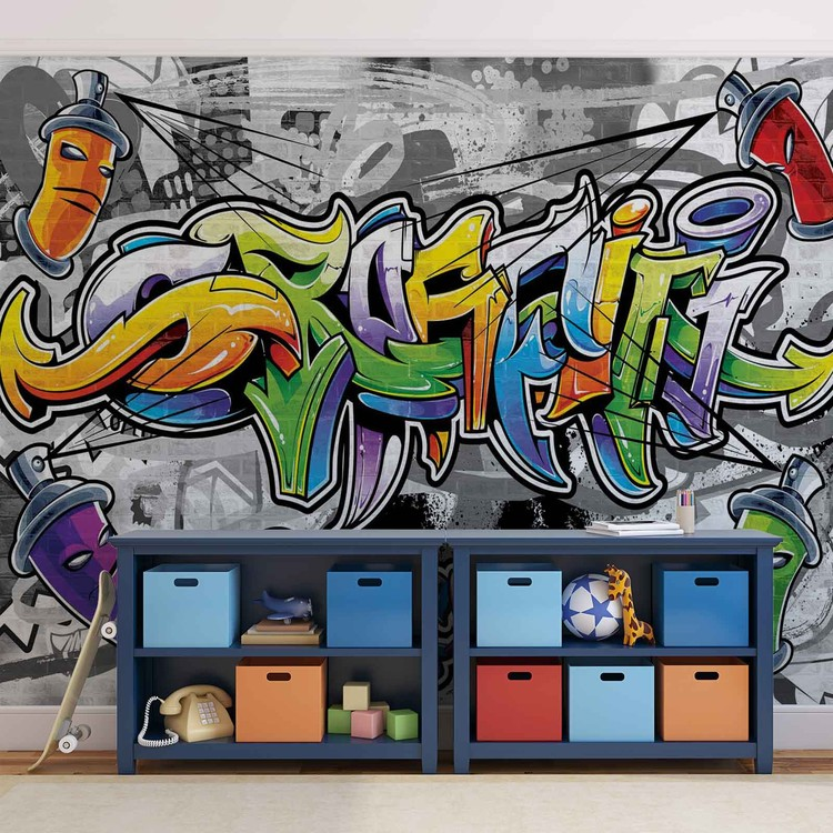 Graffiti Street Art Wallpaper Mural
