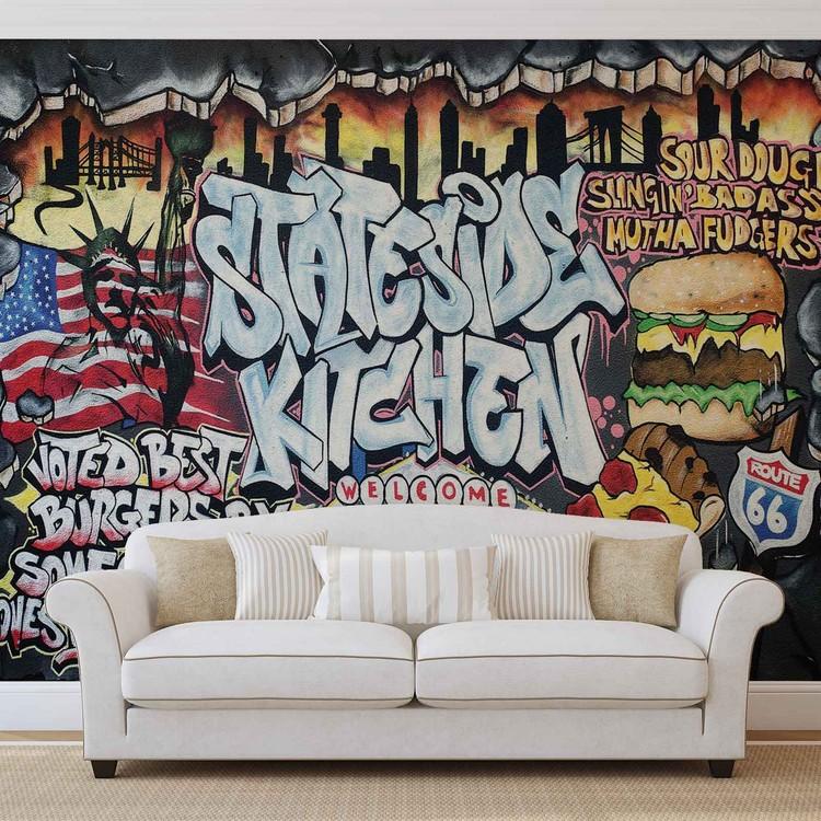 Graffiti Street Art Wall Paper Mural Buy at Abposterscom