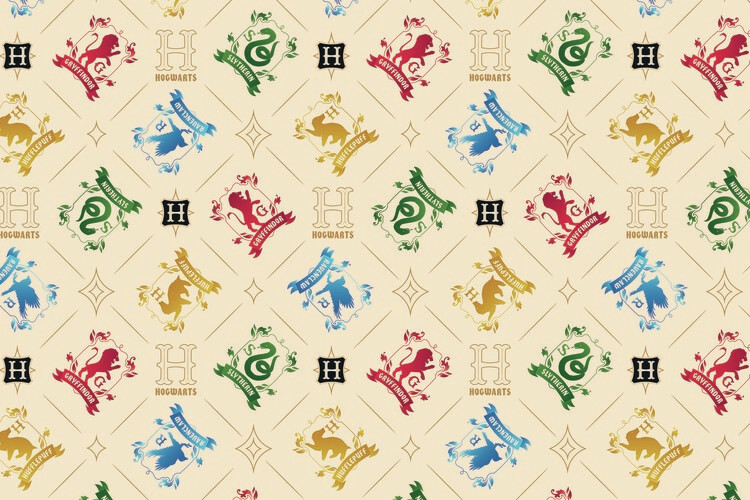 Wallpaper Mural Harry Potter - Crests