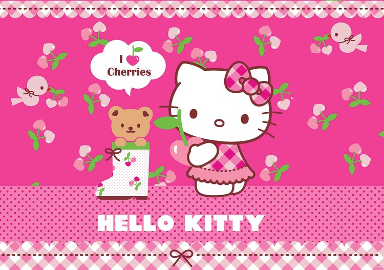hello kitty wall mural for your home buy at europosters hello kitty wall mural photo wallpaper 1806dk ebay