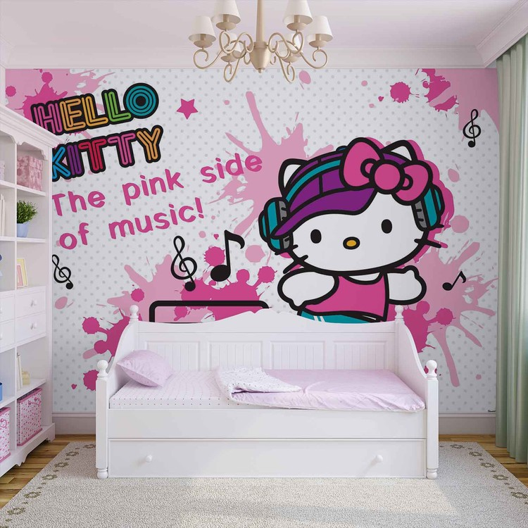 Hello Kitty Wall Paper Mural Buy At Europosters