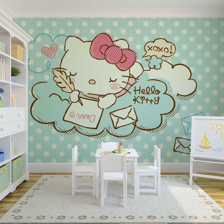 Hello Kitty Wall Paper Mural Buy At Ukposters