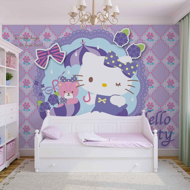 Hello Kitty Wall Paper Mural Buy at Abposterscom