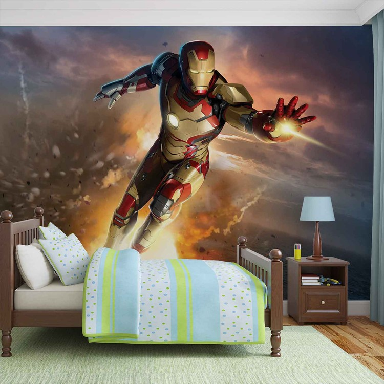 Iron Man Marvel Avengers Wall Paper Mural   Buy at Abposters.com
