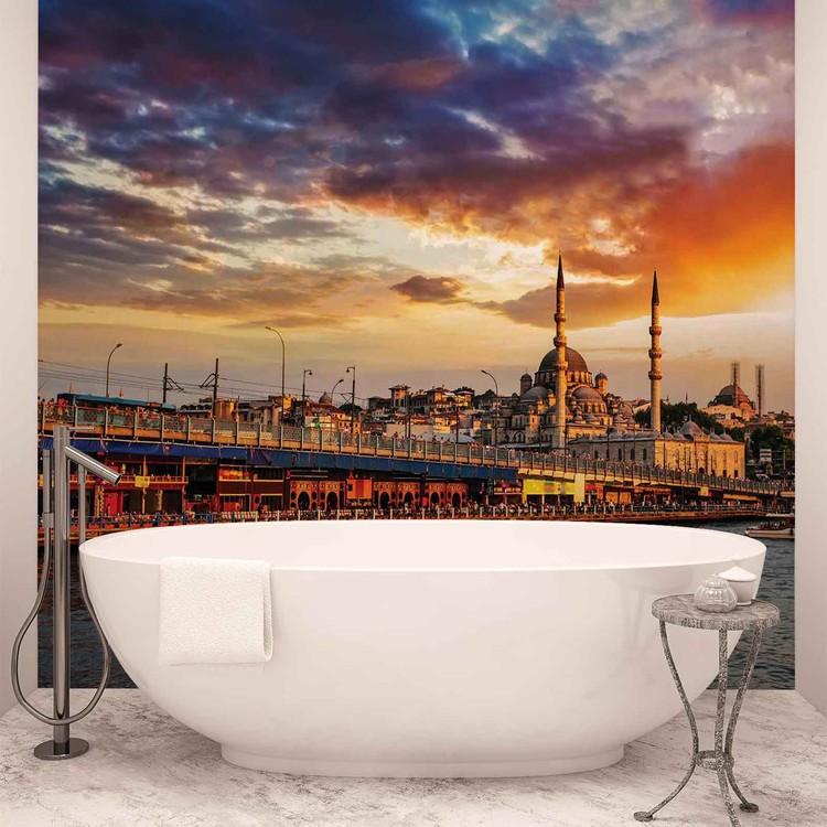Istanbul City Sunset Wallpaper Mural