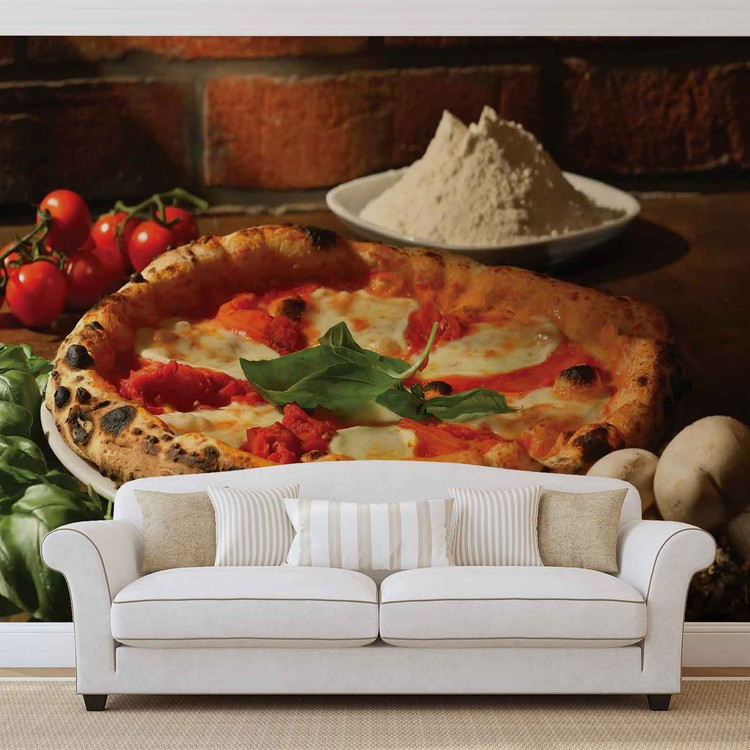 Italian Food Restaurant Wallpaper Mural