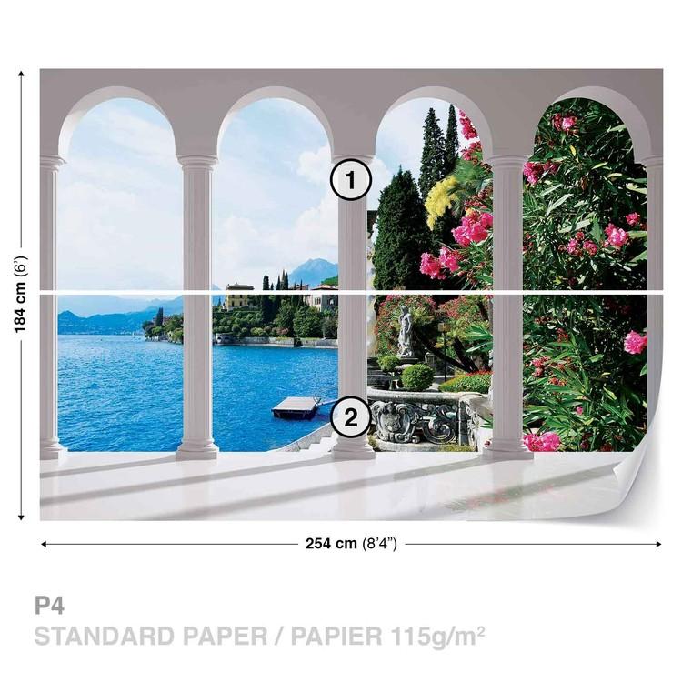 Lake Como Italy Arches Wallpaper Mural