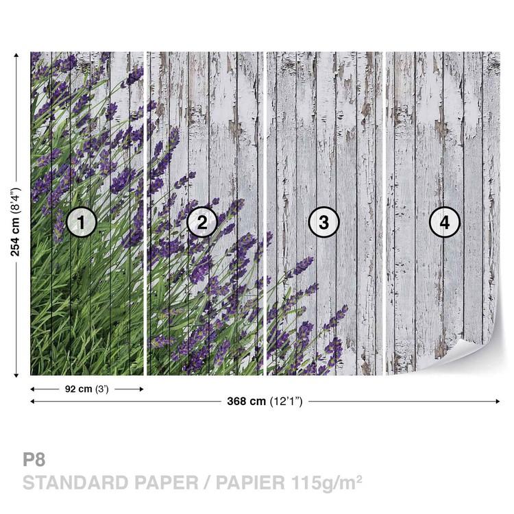 Lavendar Wood Planks Wallpaper Mural