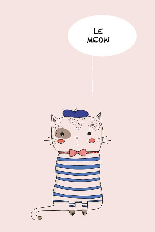 Wallpaper Mural Le Meow
