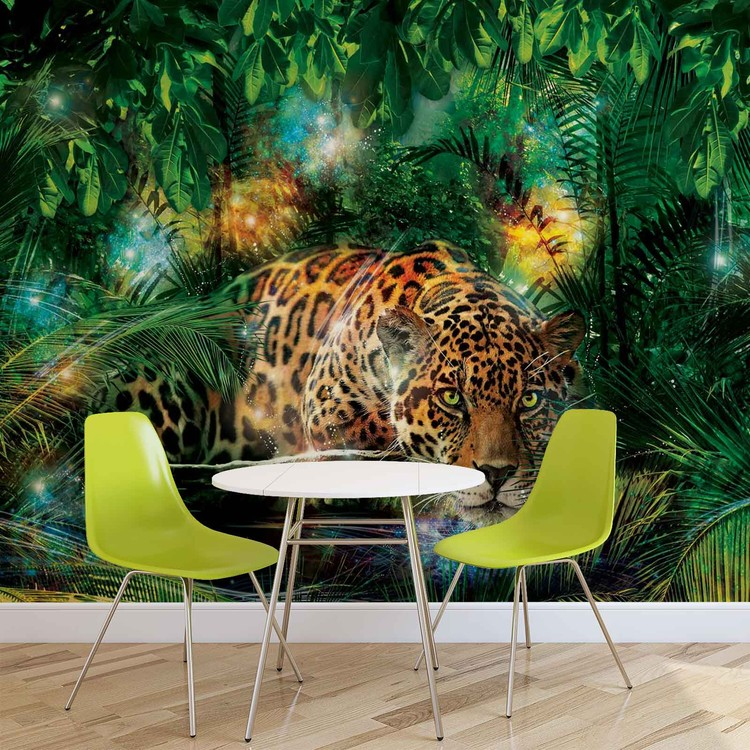 Leopard In Jungle Wallpaper Mural