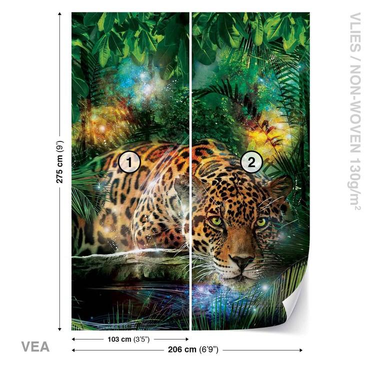 Leopard In Jungle Wallpaper Mural