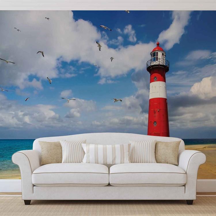 Lighthouse Beach Wallpaper Mural