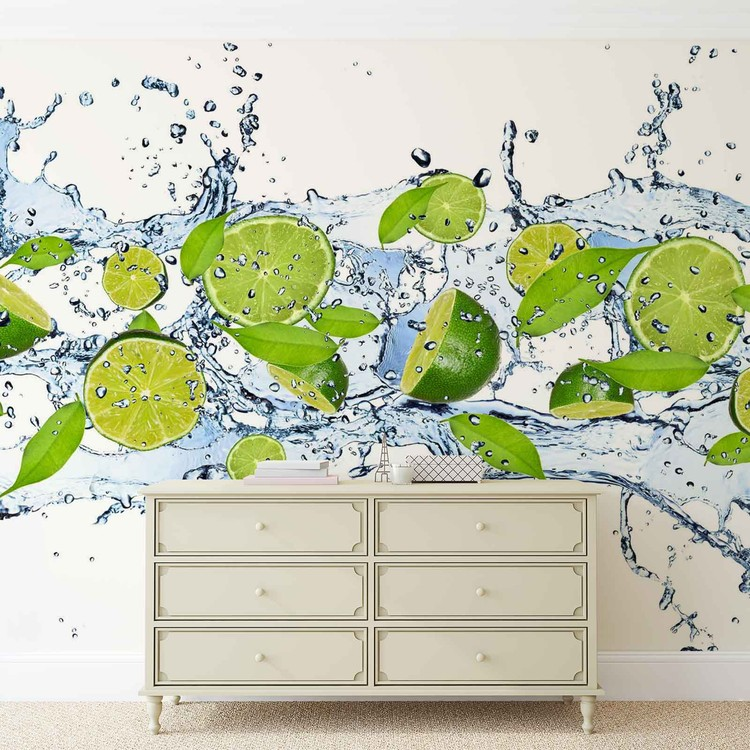 Limes Water Wallpaper Mural