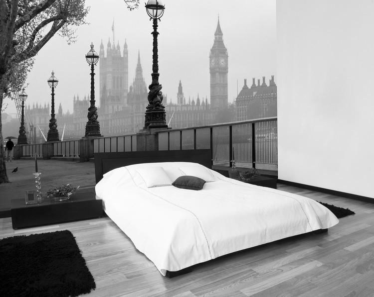 LONDON - fog Wallpaper Mural