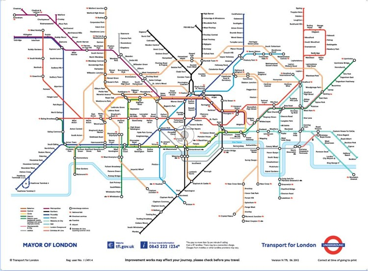 london underground map wallpaper mural