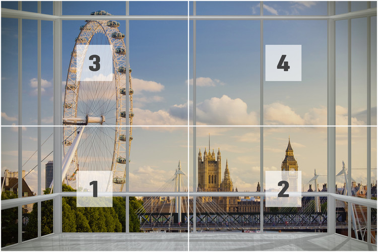 London Window Wall Mural Buy at EuroPosters