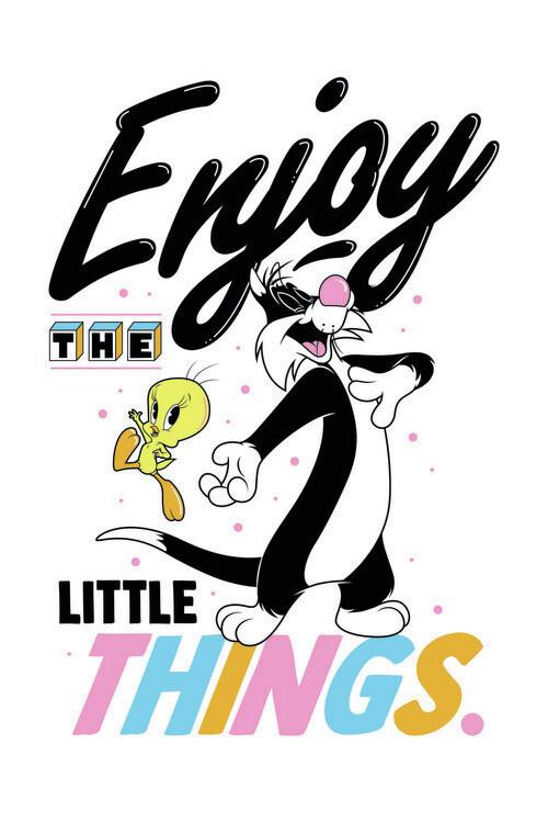 Wallpaper Mural Looney Tunes - Enjoy the little things