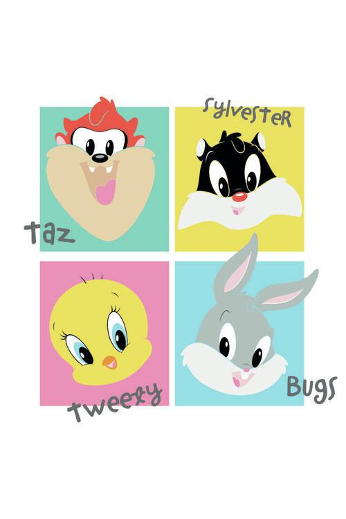 Wallpaper Mural Looney Tunes - Mini Crew