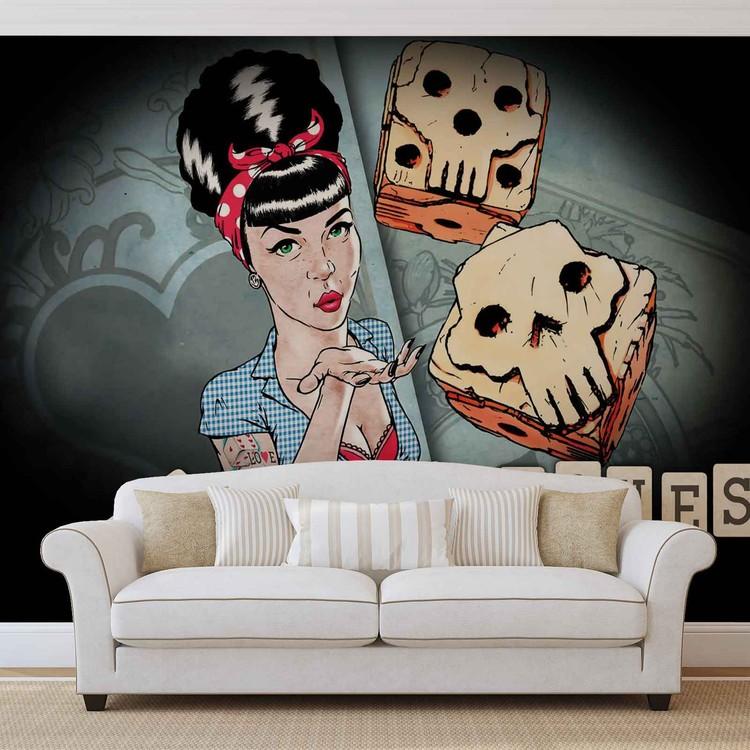 Lucky Bones Alchemy Tattoo Wallpaper Mural
