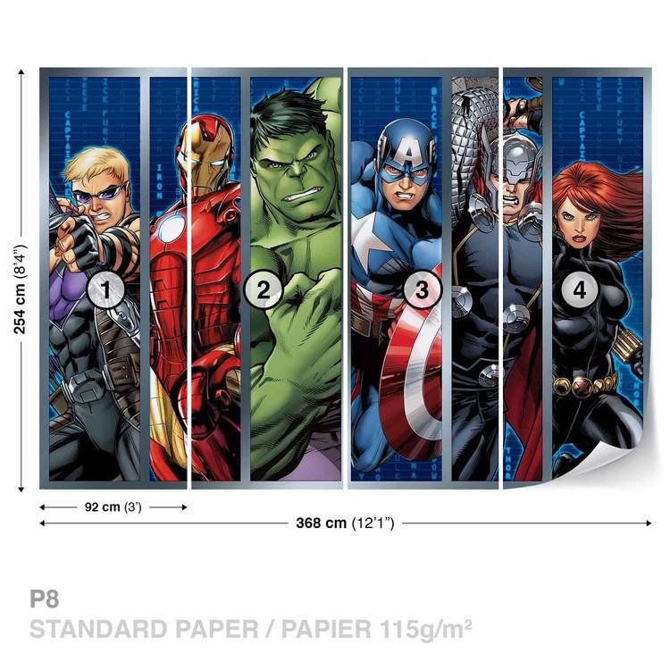 Marvel Avengers Wall Paper Mural