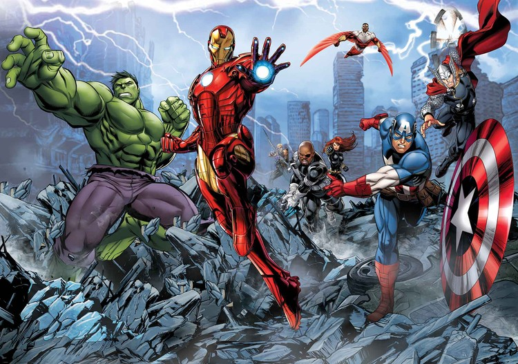 Marvel Avengers Wallpaper Mural