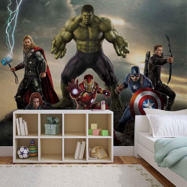 Marvel Avengers Battle Wallpaper Mural