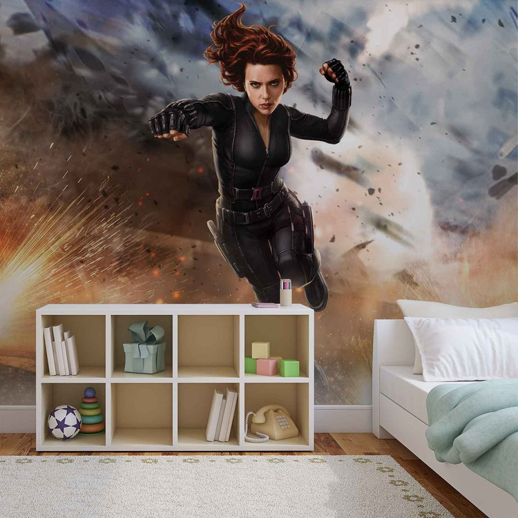 Marvel Avengers Black Widow Wall Paper Mural | Buy at
