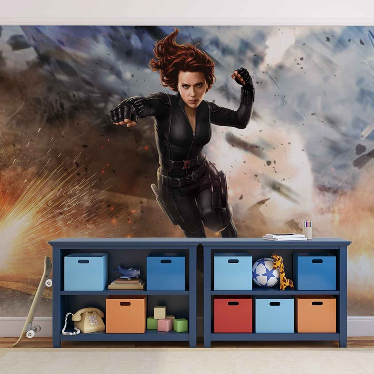 Marvel Avengers Black Widow Wallpaper Mural