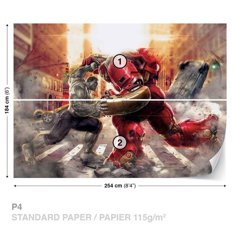 Marvel Avengers Fighting Allies Wallpaper Mural