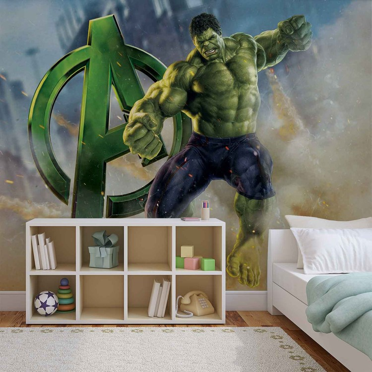 Marvel Avengers Wall Paper Mural | Buy at Abposters.com