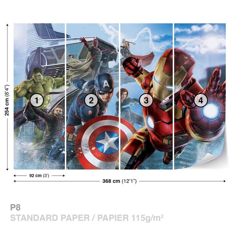 Marvel Avengers Team Wallpaper Mural